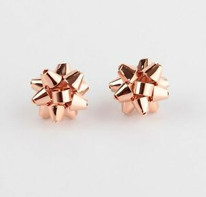Image Is Loading Rose Gold Kate Spade Bourgeois Bow Earrings Gift