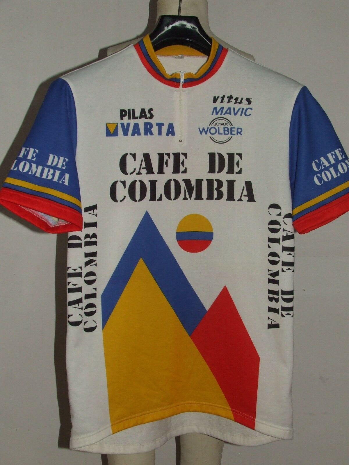 MAGLIA BICI CICLISMO SHIRT MAILLOT CYCLISM TEAM CAFE DE COLOMBIA tg. 3XL