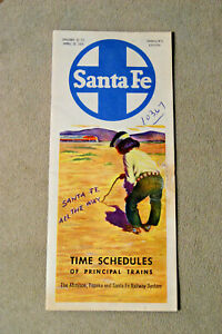 Santa-Fe-Schedules-of-Principle-Trains-Jan-10-to-April-25-1954