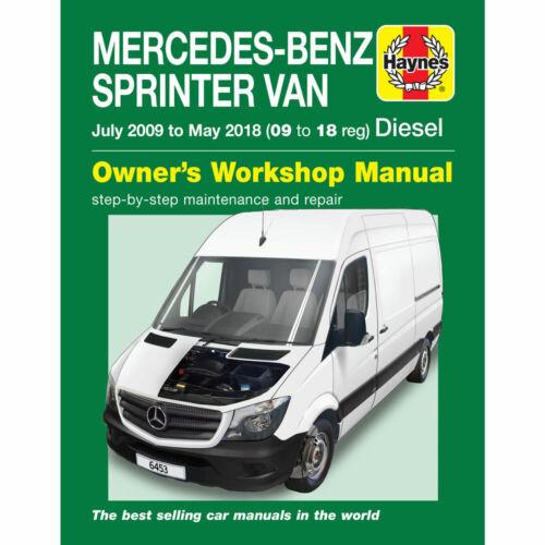 Mercedes Sprinter Haynes Manual Jul 2009 to May 2018 W906 09-18 ...