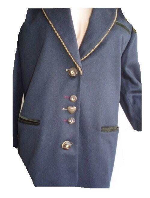 Forum Collection Trachten Blazer Blau Gr 40 - 42 Wolle & Cashmere