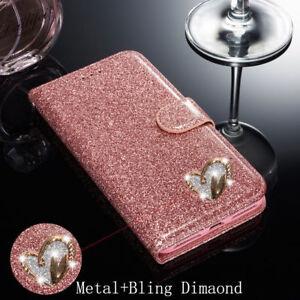 De Luxe Magnétique Bling Paillettes Avec Cœur Étui Diamond Design Pour Samsung Galaxy-afficher le titre d`origine SaCbnxA7-07161429-258578404