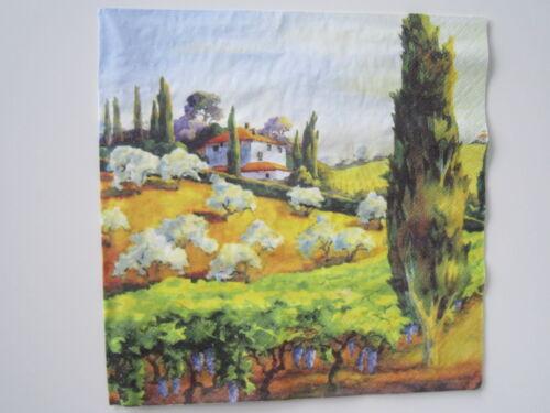 4 Servietten,33x33cm Vintage Village Lavander Toskana