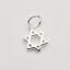 925 Sterling Silver Hollow Six Pointed Star Hex Etoile de David Charme pendentif