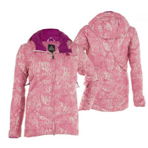 1ce535276153 Nike ACG Pink White Purple Zip Up Womens Thermo Down Ski Jacket ...