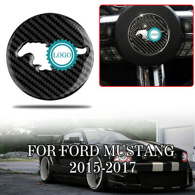 Steering Wheel Panel Trim For Ford Mustang 2015-2017 Real Carbon Fiber