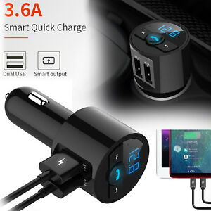 3-6A-Wireless-Bluetooth-Car-USB-Charger-FM-Transmitter-Radio-Adapter-MP3-Player