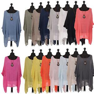 Ladies-Italian-Plus-Size-Cotton-Quirky-Top-Womens-Lagenlook-Tunic-Dress-Shirt