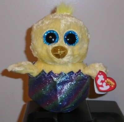 Ty Beanie Boos NEW MWMT 2019 Exclusive MEGG the Easter Chick in Egg 6/""