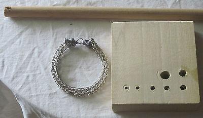 Black Bracelet VIKING KNIT BRACELET KIT /& INSTRUCTIONS black WIRE #0