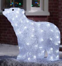 item 2 acrylic polar bear arctic white 80 led christmas decoration indoor outdoor acrylic polar bear arctic white 80 led christmas decoration indoor