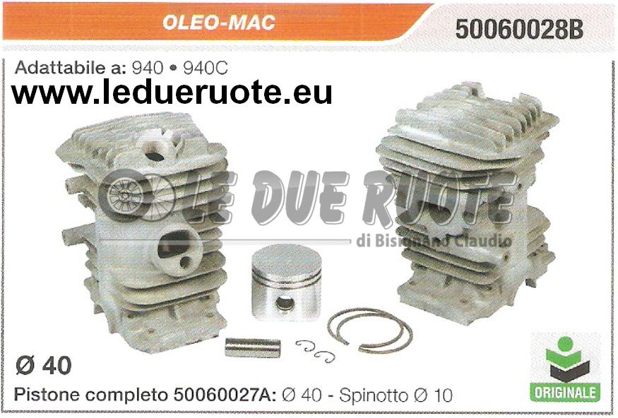 50060028B Kit Zylinder und Kolben Oleo-Mac 940 940C Kettensäge Original Ø 40