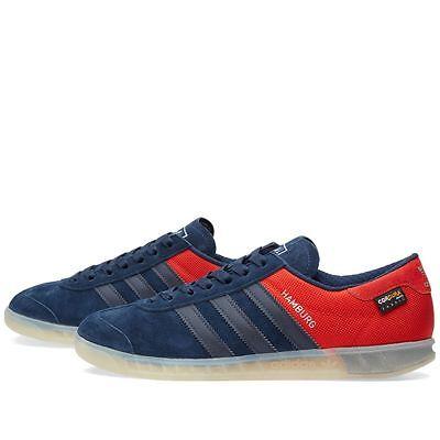 Adidas Hamburg RARE Navy / Red Halfshoe 11 NEW samba spezial trimm   eBay
