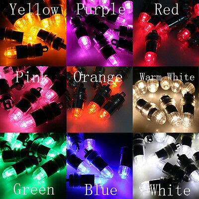 12 24 48 60 72 LED Helium Various Colors Balloons Wedding Light Up Decoration