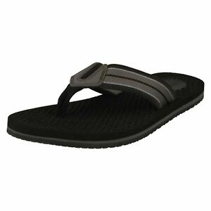 5fd1d1602 Details about Mens Clarks Levick Post Black Synthetic Toe Post Flip Flop  Sandals
