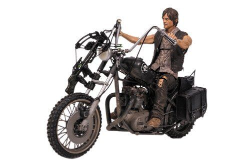 DARYL DIXON w Chopper Deluxe Box Set McFarlane Toys Walking Dead TV Series 6