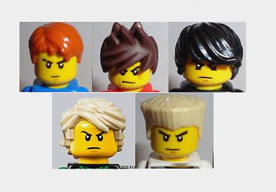 Lego Cole Head Hair piece for Ninjago Minifigures NEW