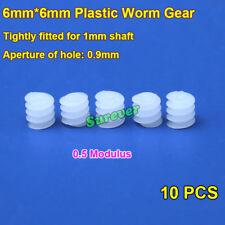 2PCS W6X82A Plastic Worm Gear for 2mm Motor Shaft//Drive Wheel Car Boat Model DIY