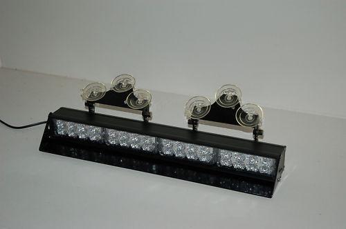 Green White Visor Light bar Deck Dash LED Security Emergency Warning Border stro