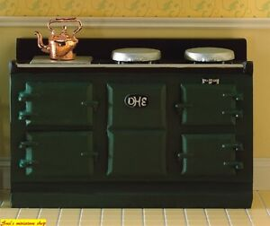1:12 scale dolls house miniature large aga style stove 3 to choose from.