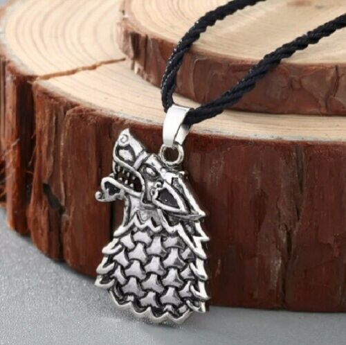 Collar Con Colgante Vikingo Lobo Celta Perro de aleación de Zinc eslavo runa nórdica