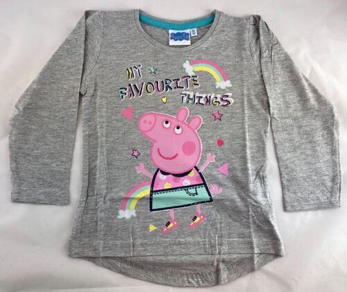 Langarmshirt Peppa Pig Wutz Größe 98,104,110,116,122,128 Farben versch