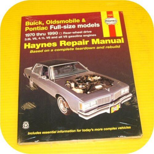 Repair Manual Book Buick Estate Electra LeSabre Limited