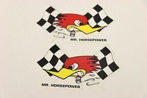Clay-Smith-Cams-Checkered-Flag-Pair-Sticker-Decal-Mr-Horsepower-5-1-4-034-x-3-1-4-034