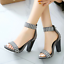 thumbnail 3 - Women's Gladiator Ankle Strappy Spike Open Toe Club Chunky Heel Sandals Shoes