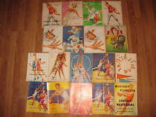 23 Vintage High School Basketball & Football Program LOT Lubbock,TX Monterey '60