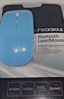 Rocksoul Ms-102 Bluetooth Laser Mouse For Mac, Baby Blue