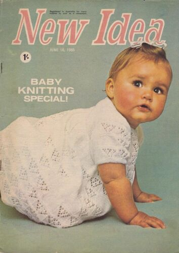 1960s VINTAGE NEW IDEA AUSTRALIAN WOMEN'S MAGAZINE June 16th 1965 BABY KNITTING