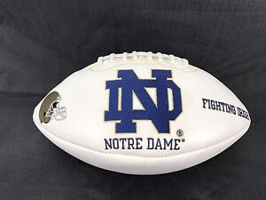 Notre-Dame-Fighting-Irish-Collectors-Man-Cave-Rare-Embroidered-Football-Fastship