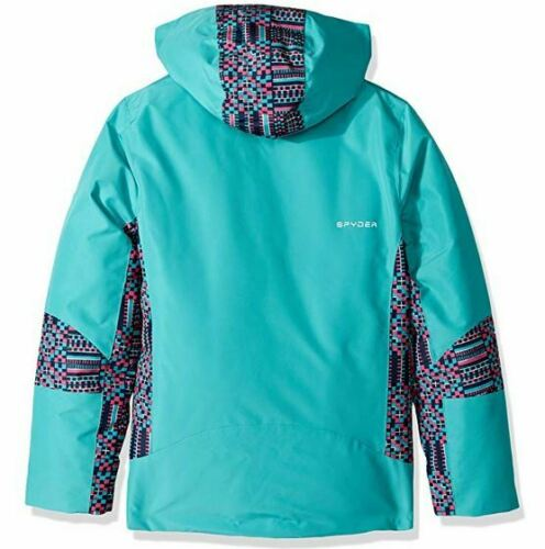 Spyder Kids Bitsy Charm Snow Jacket,Ski Snowboarding Jacket,Size L 14//16 Girls