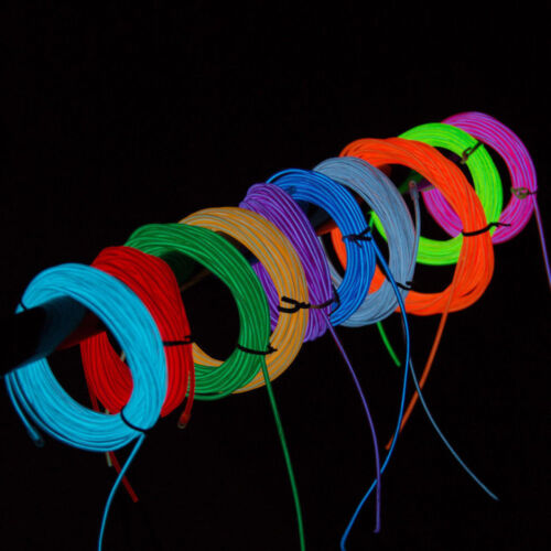 Flexible Neon Light Glow EL Wire LED Strip Tube Decorative Lamp with Inverter