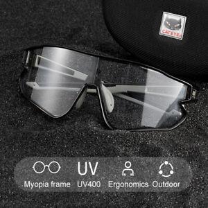 CATEYE-Photochromic-Goggles-Cycling-Glasses-Sunglasses-Eyewear-Black-UV400-New