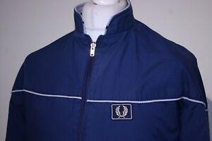 Fred Perry Reversible Windbreaker Jacket -S/M- Navy Blue/Grey - Vintage Mod Top