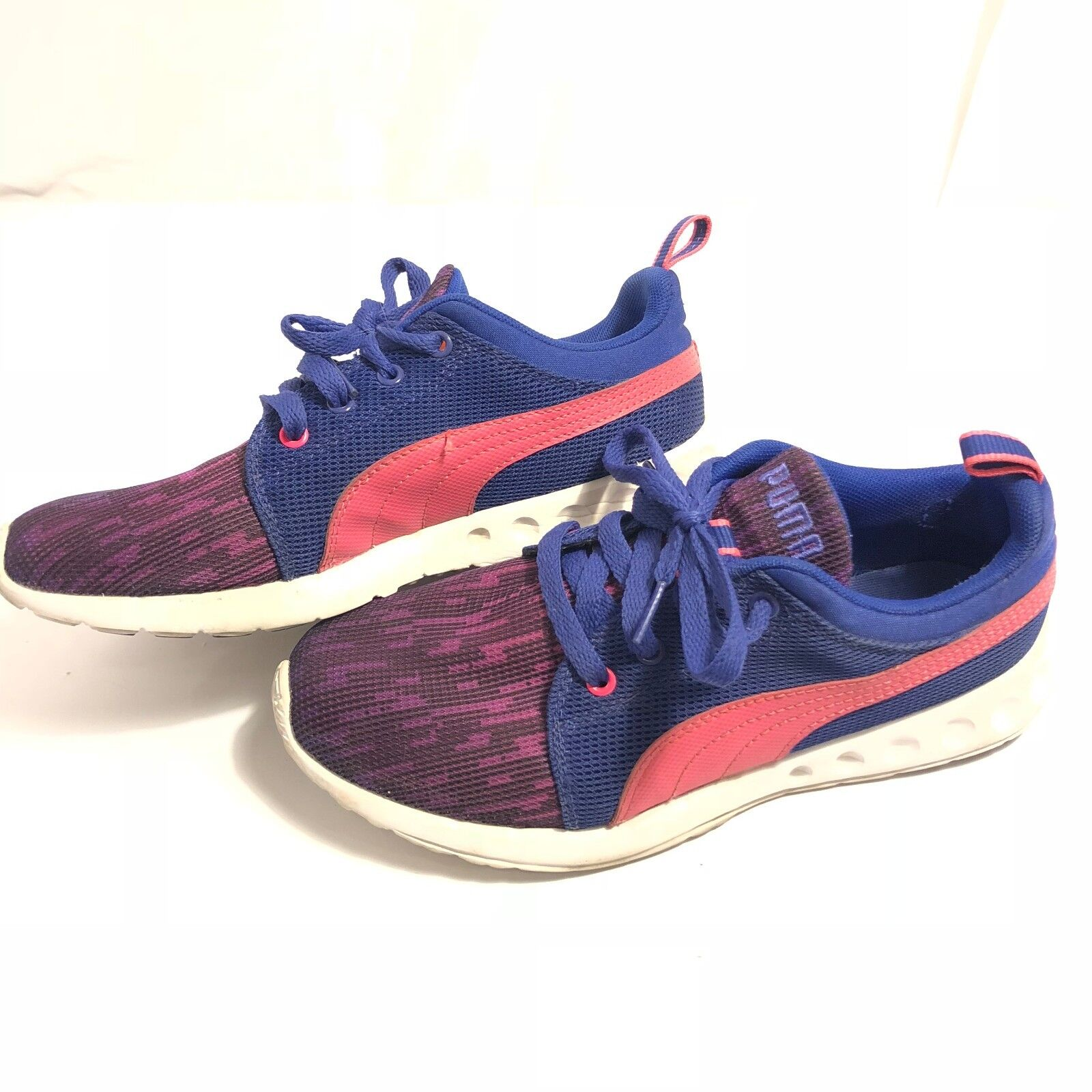 PUMA Womens Carson Runner Glitch 2 Fashion Sneaker Clematis bluee Pink Size 7.5