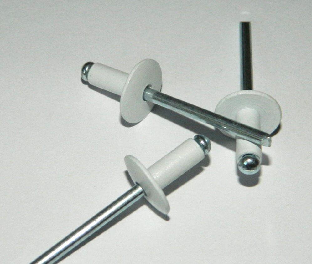 Multi Blindnieten DIN 7337 AL//Stahl Großkopf K16 4,8 x 14 RAL-Pulverbeschichtet