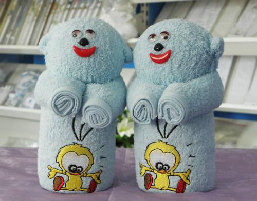 Handtuchset 3 tlg Handtücher Geschenkartikel Teddybär B