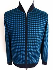 $1575 BRIONI Rare Color Cotton Silk Blend Cardigan Sweater Jacket Size 56 2XL