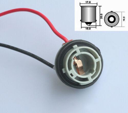 1x R5W R10W Fassung Sockel Kabel BA15s 1156 Pins 180° Base Deutsche Post