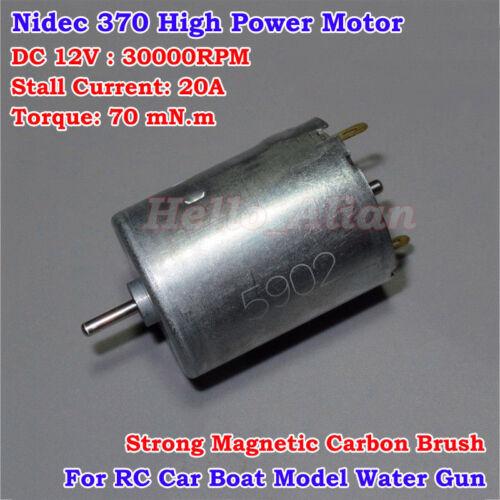 Nidec DC 3V 6V 12V 30000RPM High Speed Power Large Torque 370 Motor DIY Car Boat