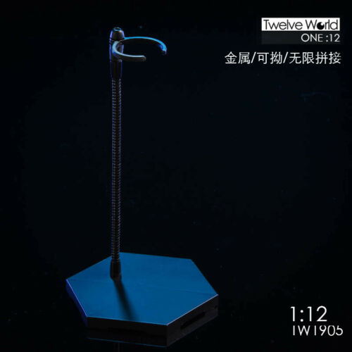 16.5cm ver. Metal tube display stand for 1//12 scale action figure TW1905A