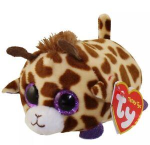 "b1fb66be86f Teeny Ty Beanie Boo Stackable Plush MABS Giraffe 4"" Brown Spots Big ..."