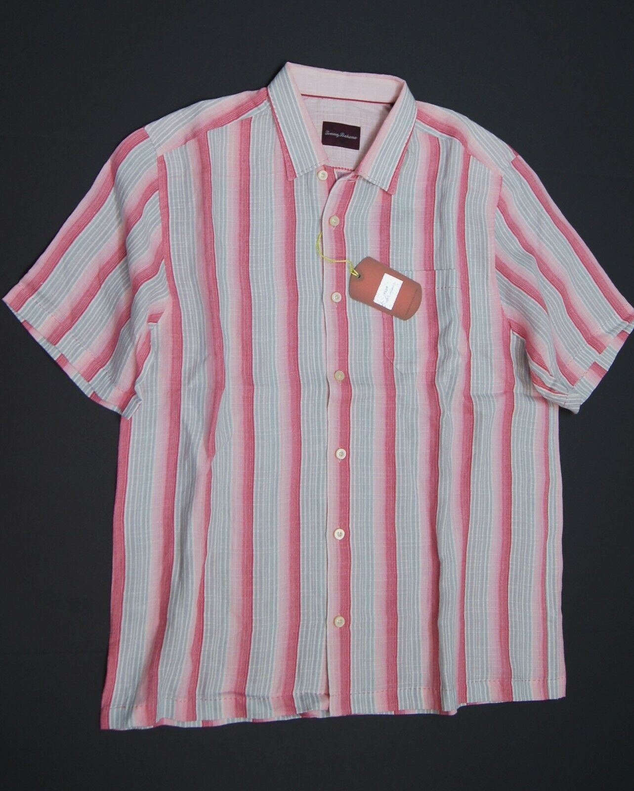 TOMMY BAHAMA Dried by Rose 'Stripe by Dried Stripewest' S/S Linen Sport Shirts NWT 4e65fb