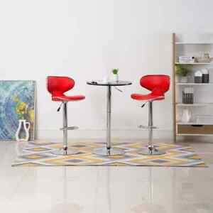 vidaXL-2x-Barkruk-Kunstleer-Rood-Barkrukken-Barstoelen-Barstoel-Salonkrukken
