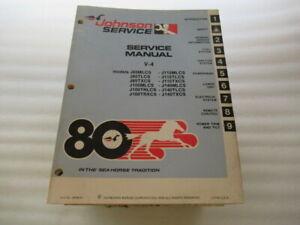1980-Johnson-Outboards-Marine-V-4-Factory-OEM-Service-Manual-P-N-JM-8010