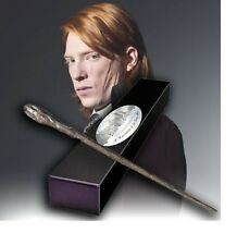 HARRY POTTER OFFICIAL PROP REPLICA WAND BILL WEASLEY + BONUS NAME CLIP STAND