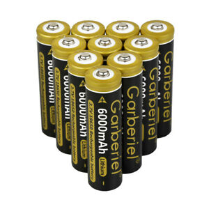 10x-18650-BRC-6000mAh-Li-ion-3-7V-Rechargeable-Battery-For-LED-Flashlight-Torch